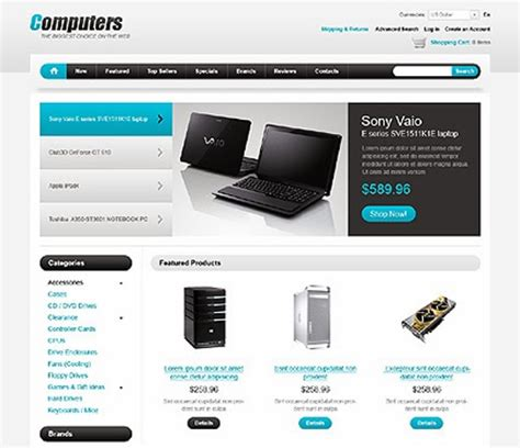 oscommerce responsive template free responsive os commerce templates 8 subjects