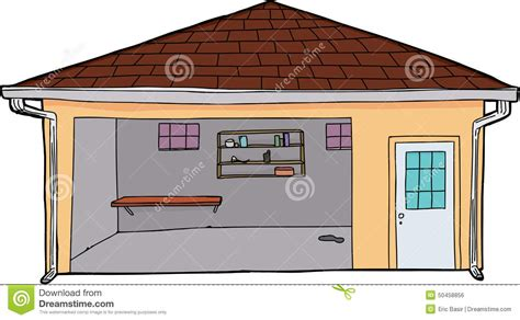 garage cartoon empty yellow garage stock illustration image of