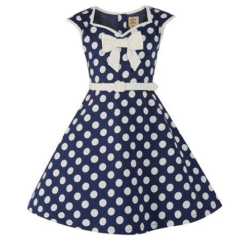 Dress Kid Ursula Polka mini alanis blue polka dot dress vintage dresses lindy bop icanpinarainbow win with