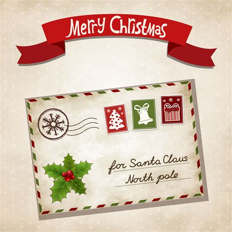 hallmark card envelope templates letter from santa official website of santa claus