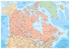 map of cities of canada large political and administrative map of canada with