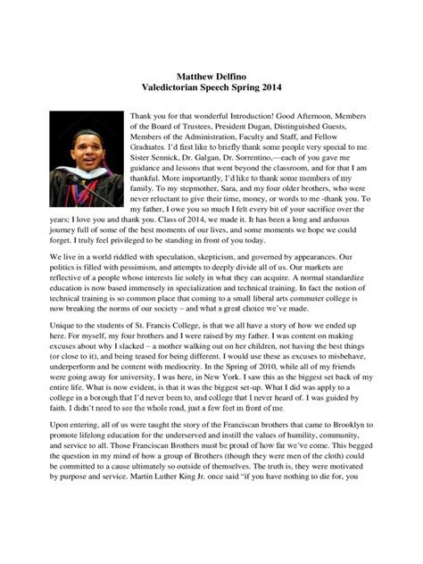 valedictorian speech template valedictorian speech exles 3 free templates in pdf
