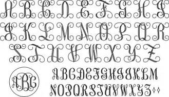 monogram letter template large connecting script monogram se01031
