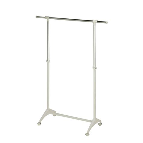 rolling garment rack honey can do collapsible steel rolling garment rack in chrome gar 01304 the home depot