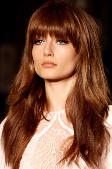 2017 Hairstyles For With Bangs by 20 Hairstyles With Bangs 2015 2016 Hairstyles