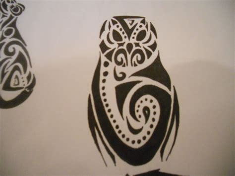 tattoo owl tribal tribal barn owl tattoo by mikaylamettler on deviantart