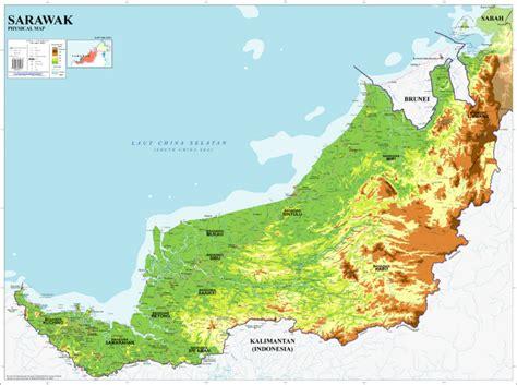 maps globe specialist distributor physische karte sarawak karte produkt id 137724353