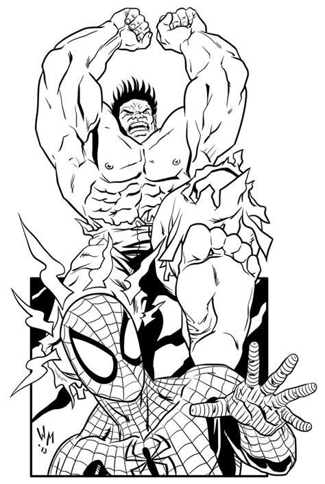 hulk fighting coloring pages spiderman vs hulk free coloring pages