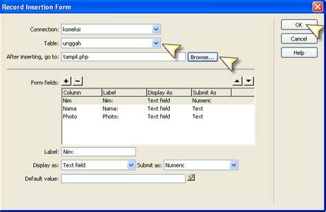 membuat form upload foto dengan php trik membuat form upload di dreamweaver tanpa coding