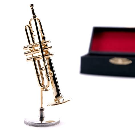 instrument with metal deco instrument quot trumpet quot 4 3 quot metal with stand