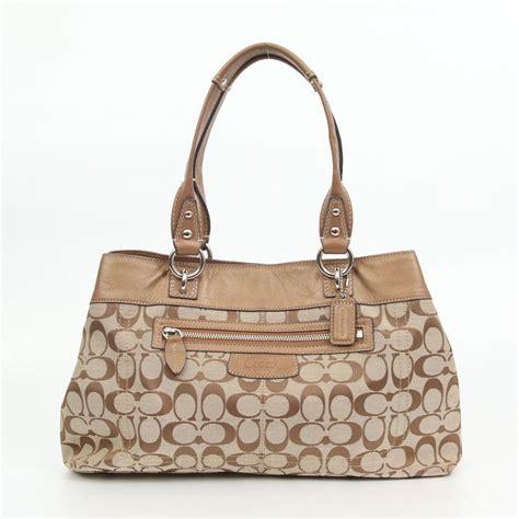 Coach Penelope Canvas Satchel by Auth Coach Bag Penelope Signature Shopper Shoulder Bag