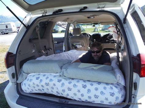 camping   toyota sienna minivan full size air mattress