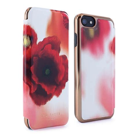 ted baker carleto mirror folio case  iphone   playful poppy proporta