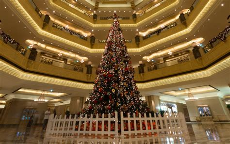 emirates palace christmas tree feeling festive this season s finest christmas trees