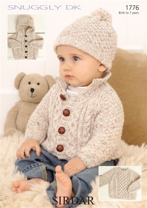 baby hat pattern dk yarn sweater jackets and hat in sirdar snuggly dk 1776