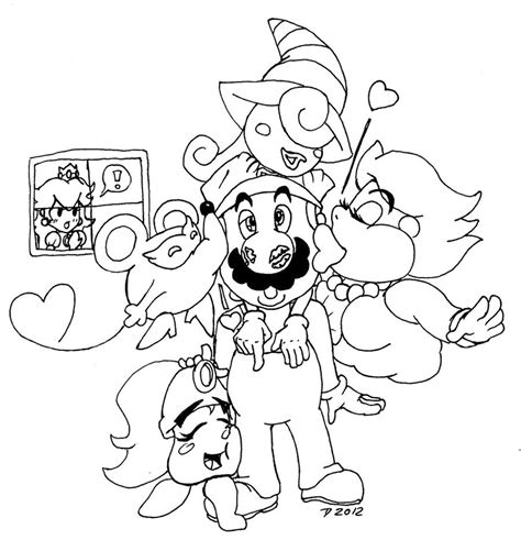 paper mario free coloring pages