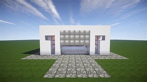 Minecraft House With Garage by A Modern Garage Minecraft Project