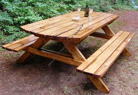 picnic table  benches paper patterns build