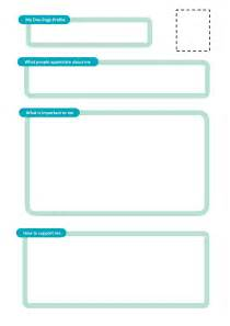 One Page Profile Template one page profile templates helen sanderson associates