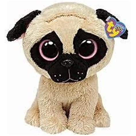 pug beanie ty beanie boo boos pugsly the pug error tush tag says corky 6 inches 15 99