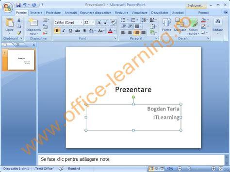 tutorial powerpoint 2007 limba romana lectii gratuite curs powerpoint 2007 online versiunea
