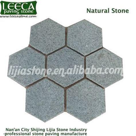 hexagon paver walkway paving tile leeca the