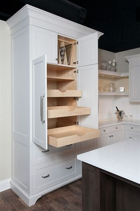 kitchen pantry cabinet with drawers thomas fine furniture kitchens pantry cabinets pull