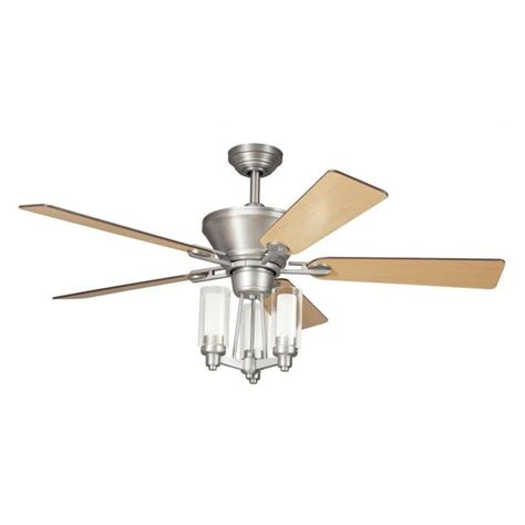 transitional ceiling fans with lights shop transitional brushed nickel ceiling fan and light kit
