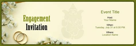 free engagement invitation with india's #1 online tool