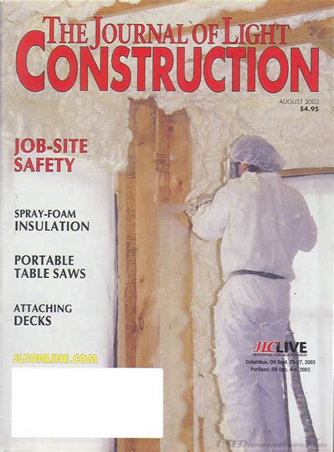 journal of light construction backissues com journal of light construction august 2003
