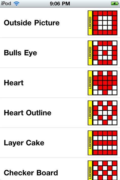 pattern games clicking for confidence and connection bingo for iphone ipad and ipod touch