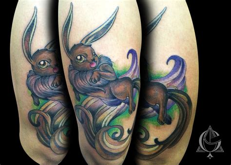 eevee tattoo eevee by abrahamgart on deviantart