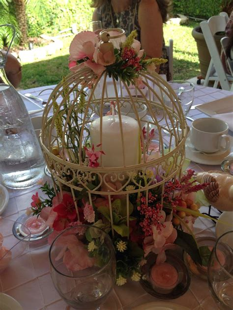 bird cage centerpiece bridal shower ideas pinterest