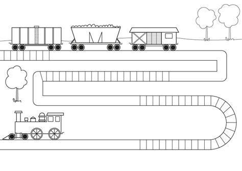 imagenes infantiles para colorear de trenes tren con vagones dibujo para colorear e imprimir
