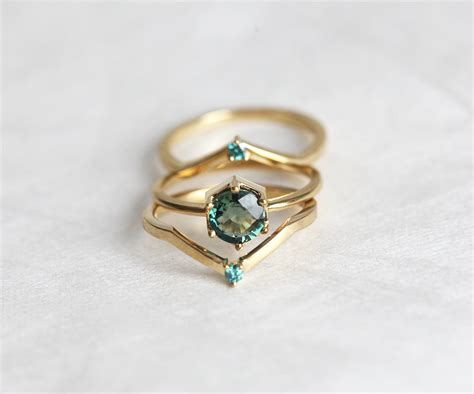 green sapphire engagement ring mint sapphire engagement ring