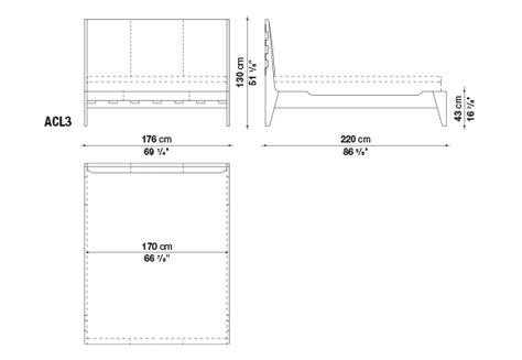 technische zeichnung bett bett talamo maxalto design antonio citterio