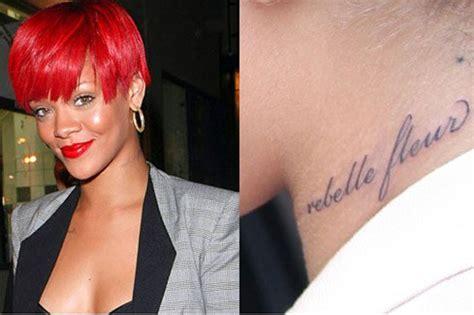 rihanna boob tattoo tattoos design rihanna tattoos