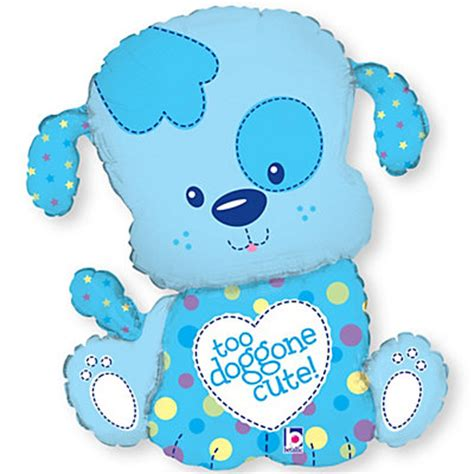 puppy balloons puppy boy baby shower mylar balloon bigdotofhappiness