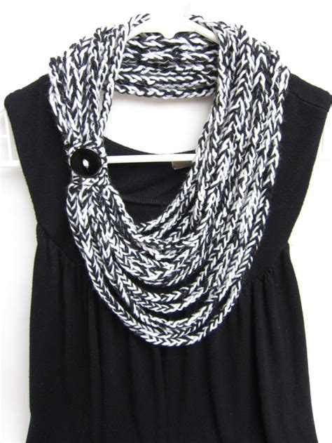 crochet chain scarf necklace scarf infinity scarf