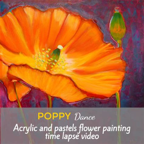 acrylic painting drying time poppy a mixed media painting time lapse