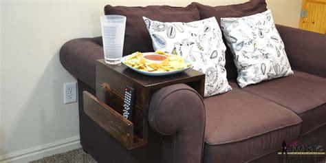 arm table l remodelaholic diy sofa arm table