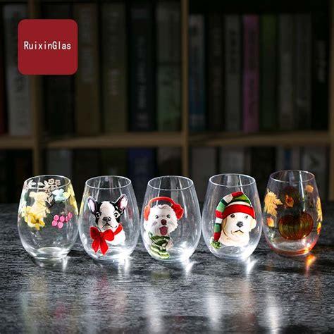 ingrosso bicchieri carino mano bicchieri dipinti piccola bicchieri grossista