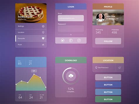 web layout ui kit 20 best free ui kits with amazing designs