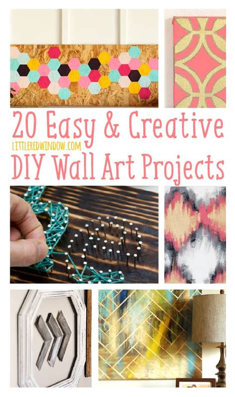 creative diy wall art ideas and inspiration 20 easy creative diy wall art projects littleredwindow