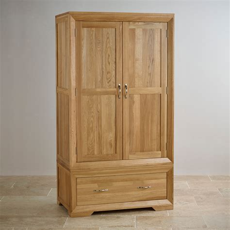 Bevel Natural Solid Oak Wardrobe   Bedroom Furniture