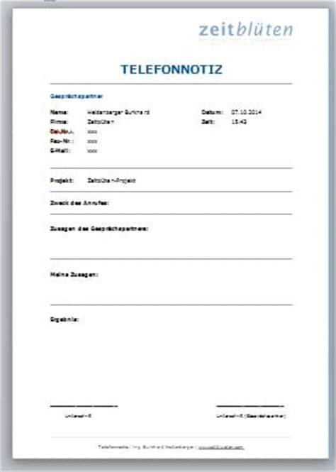 Vorlage Word Telefonnotiz 9 Tipps F 252 R Professionelles Telefonieren Zeitbl 252 Ten