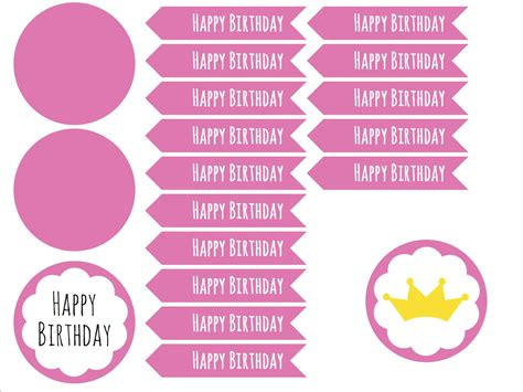 Word Vorlage Happy Birthday s 252 ss herzhaft dekoration