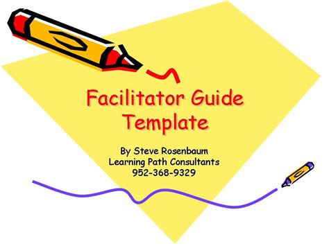 facilitator guide template learning at light speed weblog