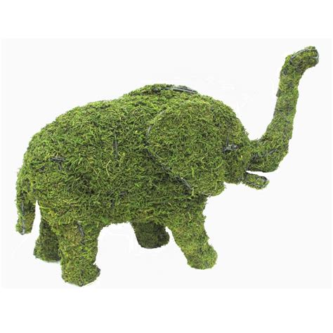elephant topiary elephant small mossed planted topiary frame gardening