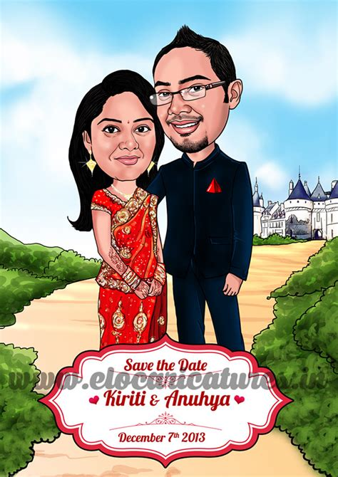 Wedding Caricature by Wedding Caricatures On Behance